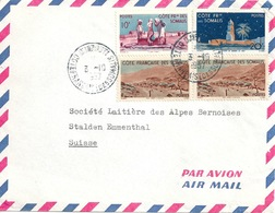 Airmail Brief  Djibouti Côte Somalis - Stalden         1957 - Costa Francese Dei Somali (1894-1967)