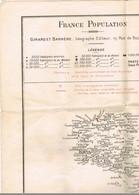 GUERRE 39/45.  W.W.II. AFFICHE DELIMITATION DE LA ZONE OCCUPEE. Carte De La FRANCE. - Posters