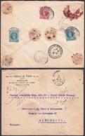 Belgique - Lettre COB202+208x2 Valeur Déclarée(300Fr) De Bruxelles 09/XII/1926 Vers Barcelone (RD337)DC5850 - 1922-1927 Houyoux