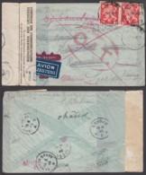 Belgique-Lettre Guerre COB 680 En Paire Griffe O.A.T De Liège 28/05/1946 Vers Sävsjo Suivi Vers Suède  (RD339)DC5852 - WW II