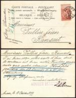 """Belgique - COB57 Perforé """"A.B."""" Sur CP D'Anvers 18/10/1899 Vers Ransart (RD358)DC5871 - Perfins"""
