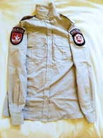 Not Used Police Uniform Shirt Shirts Lithuania Patch Coat Of Arms 2 Patches Vilnius City - Police