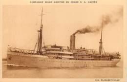 Cie Maritime Belge Du Congo - S.S. Elisabethville - Belgisch-Congo - Varia