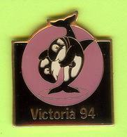 Pin's Lutte Victoria 94 Orque /Baleine - 10MM08 - Lotta
