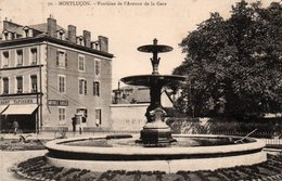 Dép. 03 - MONTLUCON - Fontaine Et Avenue De La GARE - Montlucon