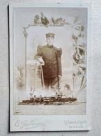CDV Format CABINET - Portrait Décoré Militaire Infanterie De Marine - Photo Jacomine, Toulon - BE - War, Military