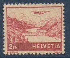 CH 1941  Avion Survolant L'Engadine N°YT 33  ** MNH - Poste Aérienne