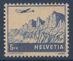 CH 1941  Avion Survolant Churfisten  N°YT 34  ** MNH - Poste Aérienne