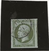 TIMBRE SECOND EMPIRE NON DENTELE N° 11 -TB - ANNEE 1860 - COTE : 90 € - 1853-1860 Napoleone III