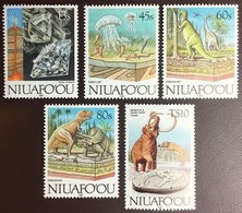 Tonga Niuafo'ou 1993 Evolution Of Earth Prehistoric Animals Dinosaurs Complete MNH - Briefmarken
