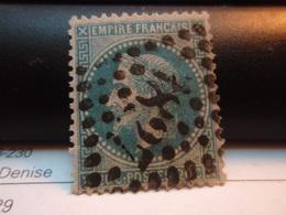 Timbre Empire Français 20 C. Napoléon III  Lauré   . N°29 B - 20 C Bleu, Type II, Oblitéré . 3827 - 1863-1870 Napoleone III Con Gli Allori
