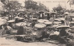 Rare Cpa Tonkin Marché De L'intérieur - Viêt-Nam