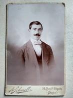 CDV Format CABINET - Portrait Homme Élégant - Photo Schnell , ORAN - BE - Photographs