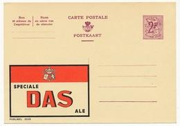 """BELGIQUE => Carte Postale - 2F Avec Publicité """"Speciale DAS Ale"""" - Publibel N° 2030 - Ganzsachen"""