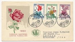 BELGIQUE => Enveloppe FDC - Floralies Gantoises - GENT - 28/3/1960 - 1951-60