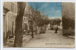 07 ST SAINT REMEZE écrite Du Village En 1945 La Plaine Automobile Rue Arbres      D01 2020 - Autres Communes
