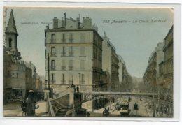 13 MARSEILLE  Quartier Cours Lieutaud Couleur Animation 1906 Timb -  Guede Photo G  D01 2020 - Non Classés