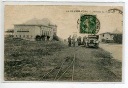 17 LA GRANDE COTE Le Terminus Du Tramway Animation Automobile Le Casino  1921 Timbrée    D01 2020 - Francia