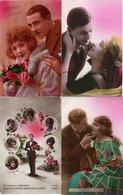 Lot De 4 Cartes Postales Anciennes - FANTAISIES COUPLES - - Postcards