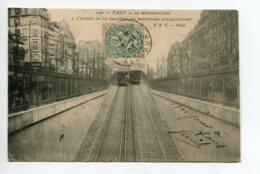 75 PARIS Métropolitain Entrée Tranchée Boulevard Rochechouart 1903 Timbrée   D01 2020 - Métro Parisien, Gares