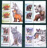 Belarus 2020 Wild Baby Animals Fauna 2 Set + Label Zrf MNH - Bielorrusia