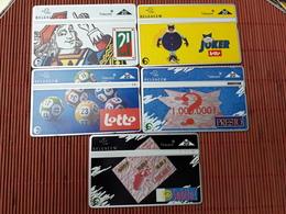Set 5 Phonecards Belgium Used - Belgique