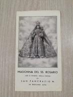 Santino Pieghevole Madonna Del SS. Rosario Che Si Venera Nella Chiesa Di San Pancrazio M. In Bergamo - Devotion Images