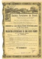SOCIETE FOREZIENNE DE GRANIT  ST ETIENNE - EMISSION DE 1400 OBLIGATIONS -ANNEE 1931 - Mines