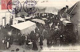 60 MONTMILLE - VUE DU MARCHE PRISE DE LA MAIRIE - Autres Communes
