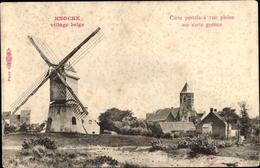 Cp Knokke Heist Westflandern, Blick Auf Den Ort Mit Kirche Und Windmühle - Belgique