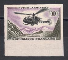 PEU COURANT TIMBRE NON-DENTELÉ POSTE AÉRIENNE N° 37 NEUF ** Avec BORD DE FEUILLE - LUXE ! - France