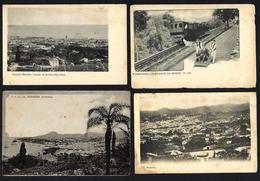 Conjunto 4 Postais Antigos MADEIRA Levada Santa Luzia, Elevador, FUNCHAL Etc. Set 4 Old Postcards PORTUGAL 1900 - Madeira