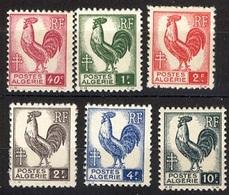 Année 1944-N°218/223 Neufs**MNH : Coq  D'Alger - Ungebraucht