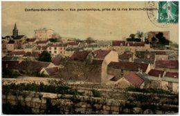 78 CONFLANS-SAINTE-HONORINE - Vue Panoramique, Prise De La Rue Arnoult-Crapotte - Conflans Saint Honorine