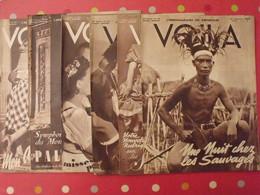 6 N° De VOILA. L'hebdomadaire Du Reportage. 1940. Philippines Madagascar Lido Chine Bourreau Palmyre Maoris - 1900 - 1949