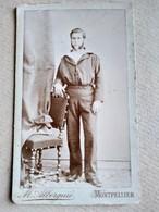 CDV  MARIN - Voir Uniforme XIX ème Et Béret - Circa 1889 - Photo Albernie, Montpellier - BE - Guerre, Militaire