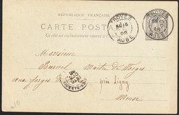 FRANCE  Entier Postal TYPE Sage De TROYES Du 15 Decembre 1898 - Biglietto Postale