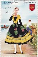 Brodée : Folklore : Languedoc - Provence : Femme Robe Tissu - ( Grand Format ) - Ricamate