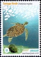 Uruguay - Green Sea Turtle (Chelonia Mydas), Stamp, MINT, 2013 - Schildkröten
