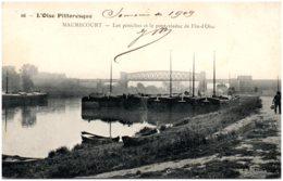 78 MAURECOURT - Les Péniches Et Le Pont-viaduc De Fin-d'Oise - Maurecourt