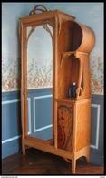 Armadietto Art Neuveau Francese 1895/1900 - Autore Leon Benouville - Dimensioni Cm 104 X 42 Altezza 230 - Meubles