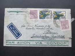 Brasilien 1935 Par Avion Voa Condor Nach Pilsen CSR Michel Nr. 388 (2) MiF Servico Aereo Condor - Brazil