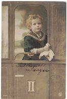 FANTAISIE ENFANTS : GARCON ENFANT PAUL RAYNAUD EN WAGON TRAIN Circulé BARBAIRA RENNES LES BAINS COUIZA MONTAZELS - Portraits