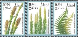 Aland Islands - Spore Plants, Set Of 3 Stamps, MINT, 2001 - Sonstige