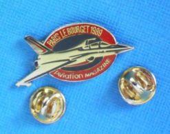 1 PIN'S //  ** PARIS LE BOURGET 1989 / LE RAFALE / AVIATION MAGAZINE ** . Attaches Doubles - Airplanes