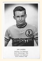 CARTE CYCLISME JAN JANSEN TEAM VREDESTEIN  1965 - Cyclisme