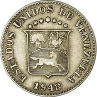 Monnaie, Venezuela, 5 Centimos, 1948, Philadelphie, TTB+, Copper-nickel, KM:29a - Venezuela