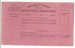 MANDAT-POSTE INTERNATIONAL 1. - Stamped Stationery