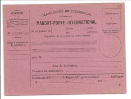 MANDAT-POSTE INTERNATIONAL Q. - Entiers Postaux
