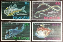 Tonga Niuafo'ou 1989 Deep Sea Fish Marine Life MNH - Fische